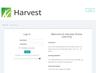 moodle.harvest.edu.au screenshot