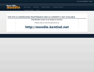 moodle.kentisd.org screenshot