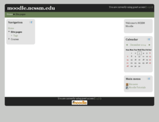 moodle.ncssm.edu screenshot
