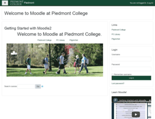 moodle.piedmont.edu screenshot