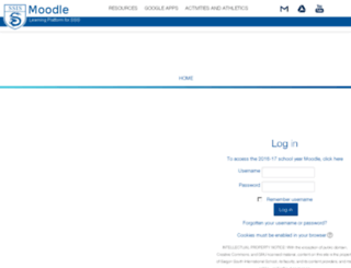 moodle.ssis.edu.vn screenshot