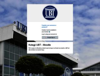moodle.ubt-uni.net screenshot