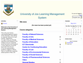 moodle.unijos.edu.ng screenshot