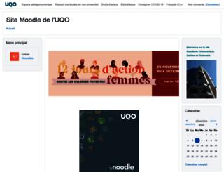 moodle.uqo.ca screenshot