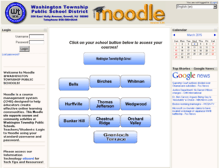 moodle.wtps.org screenshot