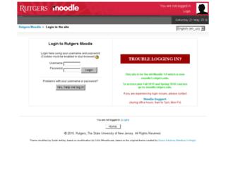moodle1.rutgers.edu screenshot