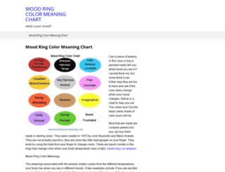 moodringscolormeanings.com screenshot