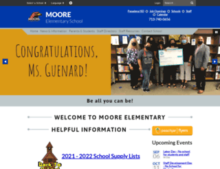 moore.pasadenaisd.org screenshot
