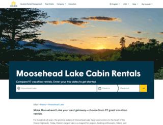 mooseheadrentals.com screenshot