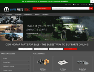 moparpartsstore.com screenshot