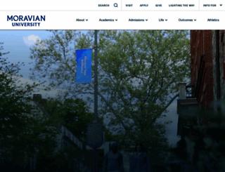 moravian.edu screenshot