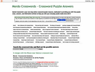 mordo-crosswords-solution.blogspot.com screenshot