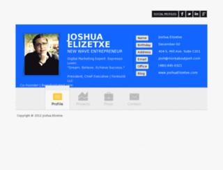 moreaboutjosh.com screenshot