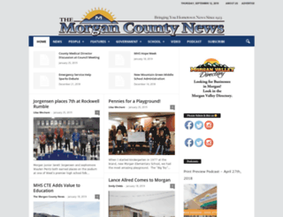 morgannewspaper.com screenshot