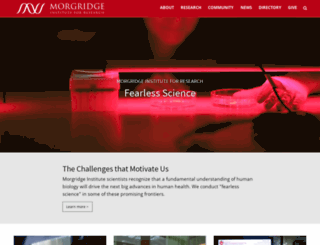 morgridgeinstitute.org screenshot