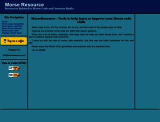 morseresource.com screenshot