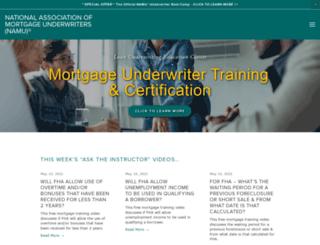 mortgage-underwriters.org screenshot