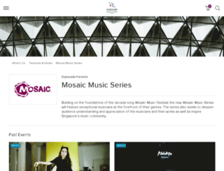 mosaicmusicfestival.com screenshot