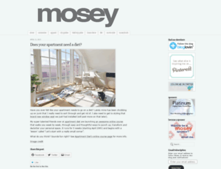 moseyblog.wordpress.com screenshot