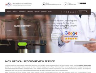 mosmedicalrecordreview.com screenshot