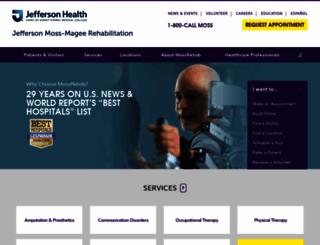 mossrehab.com screenshot