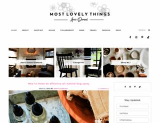 mostlovelythings.com screenshot