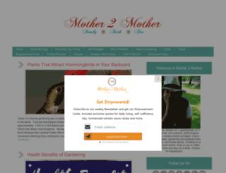 mother2motherblog.com screenshot