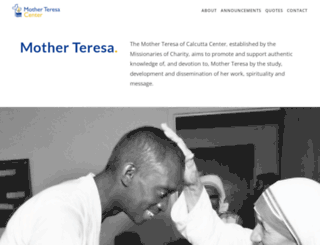 motherteresa.org screenshot