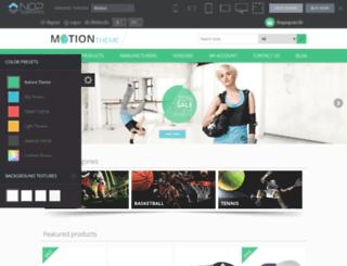motion.nop-templates.com screenshot