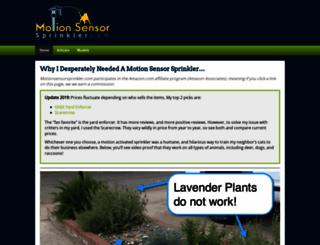 motionsensorsprinkler.com screenshot
