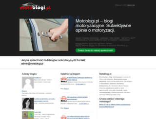 motoblogi.pl screenshot