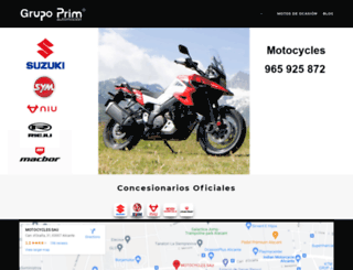 motocycles.grupoprim.com screenshot