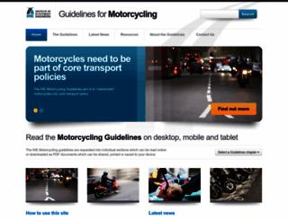 motorcycleguidelines.org.uk screenshot