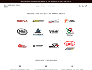 motorcycleracegear.com.au screenshot