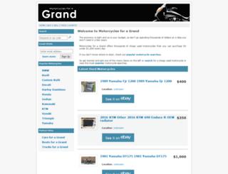 motorcyclesforagrand.com screenshot