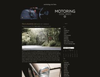 motoringconbrio.com screenshot