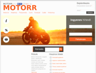 motorr.hu screenshot