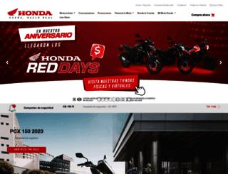 motos.honda.com.co screenshot