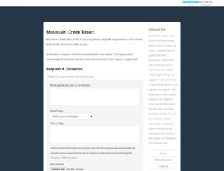 mountaincreek.requestitem.com screenshot