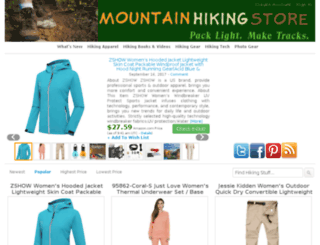 mountainhikingstore.com screenshot