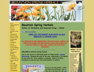 mountainspringherbals.com screenshot