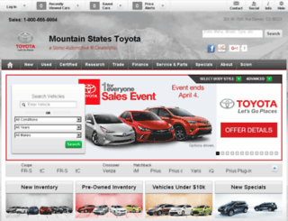 mountainstatestoyota.calls.net screenshot