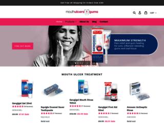 mouthulcers.co.uk screenshot