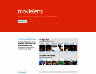 movielens.org screenshot