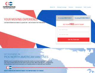 moving.northamericanvanlines.com screenshot