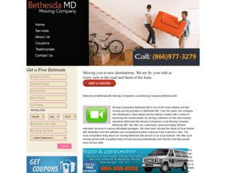 movingcompaniesbethesdamd.net screenshot