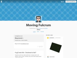 movingfulcrum.tumblr.com screenshot
