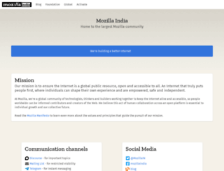 mozillaindia.org screenshot