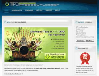 mp3freedownloader.com screenshot