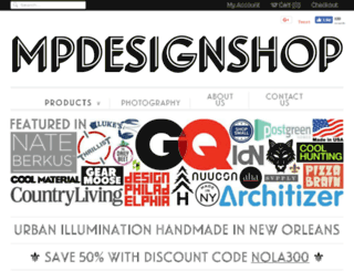 mpdesignshop.com screenshot